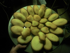 Assiette de madeleines n°1